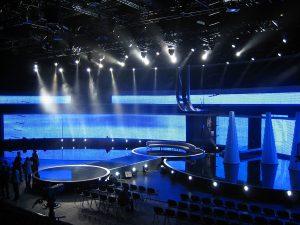 """Produktion""""Unsere Besten"""" Pro7 Messehalle 9 Hannover - #G-LEC Medienfassaden © Konrad Kraemer"""